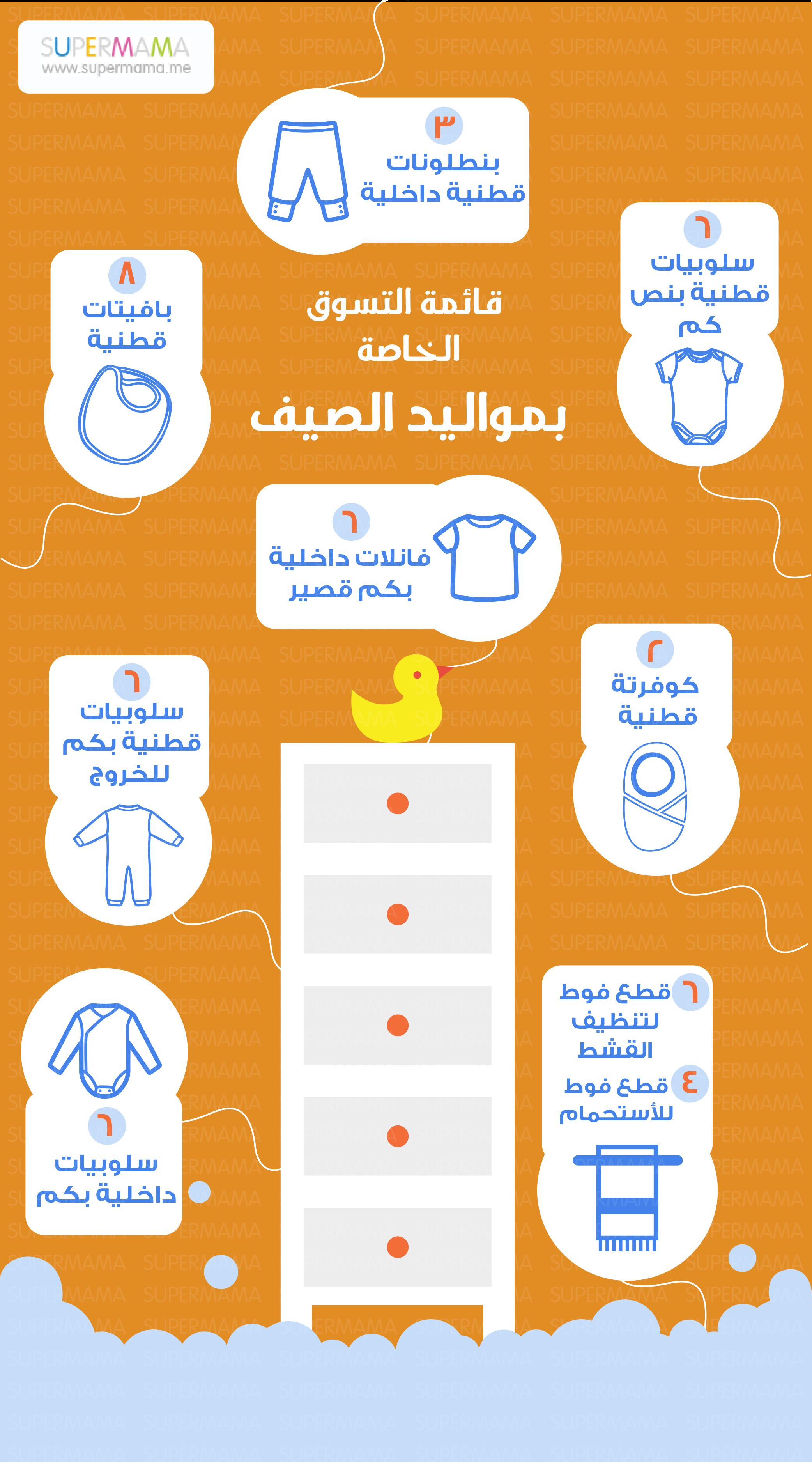 d356a31ba شاهدي قائمة احتياجات البيبي المولود في الصيف مع أم العيال: