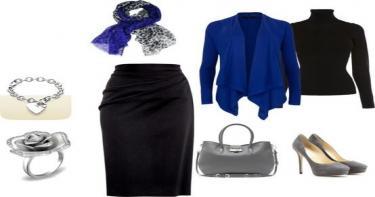 ملابس للعمل باللون الأزرق