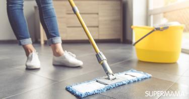 كيفية تنظيف الأرضية