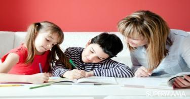 نصائح للمذاكرة لأكثر من طفل