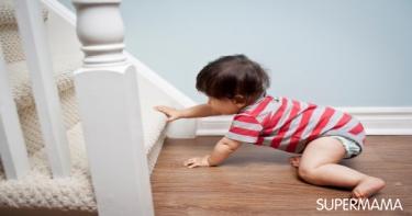 نصائح لحماية الطفل من سلالم المنزل