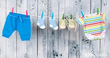 غسل ملابس الأطفال