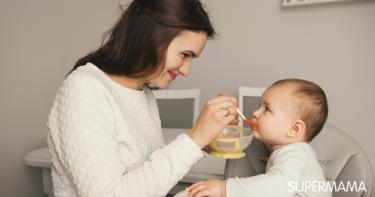 طعام الأطفال - طعام الأطفال من الشهر الرابع