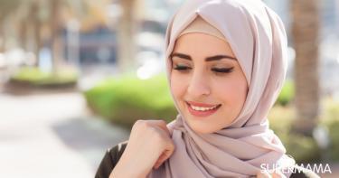لفة الحجاب حسب الوجه