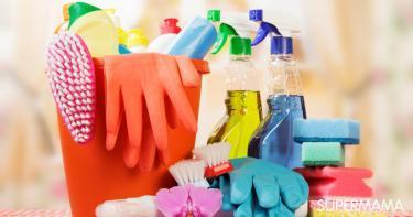 تخزين أدوات التنظيف