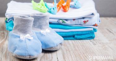 غسيل ملابس الأطفال الجديدة