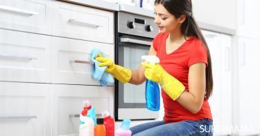 طريقة تنظيف المطبخ الخشب - خلطات تنظيف المطبخ