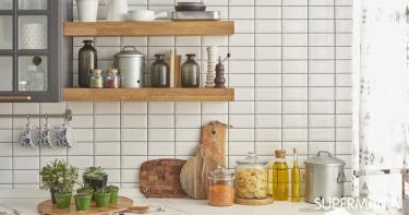 ترتيب رخامة المطبخ