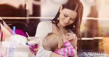 الأكل أثناء الرضاعة
