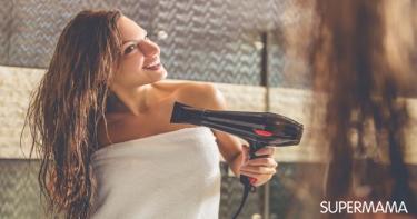أضرار الاستشوار على الشعر المبلل