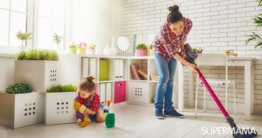 مشاركة الأطفال في أعمال المنزل