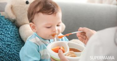 تنويع وجبات الطفل الرضيع