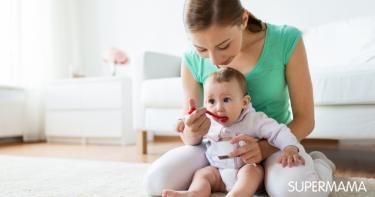 طعام الطفل في الشهر الرابع