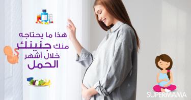 هذا ما يحتاجه منكِ جنينك خلال أشهر الحمل
