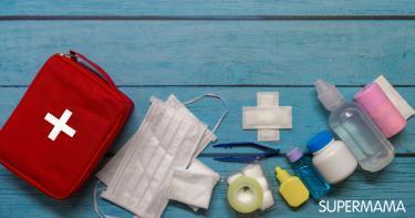 حقيبة أدوية الأطفال في المصيف
