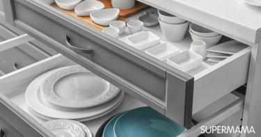 طريقة تقسيم أدراج المطبخ