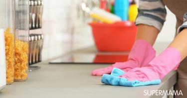 تنظيف رخامة المطبخ