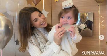 نانسي عجرم تحتفل بعيد ميلاد ابنتها الأول