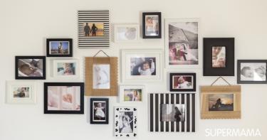 أفكار لتعليق الصور على الحائط