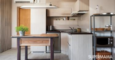 ترتيب المطبخ بدون خزائن