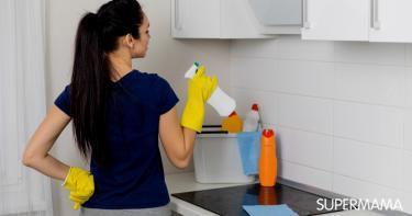 تنظيف سيراميك المطبخ من الدهون