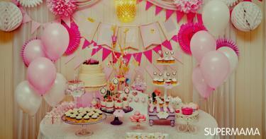 أفكار مختلفة لتزيين طاولة عيد ميلاد طفلك سوبر ماما