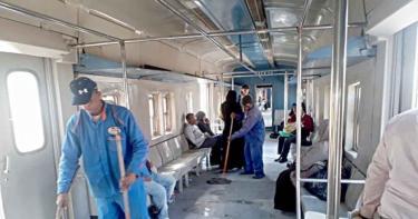 مترو الأنفاق يبدأ أعمال التطهير لمواجهة كورونا