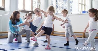 تمارين رياضية للأطفال في المدرسة