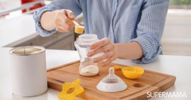 كم علبة حليب يستهلك الرضيع في الشهر