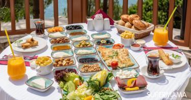 بوفيه فطور صباحي منزلي