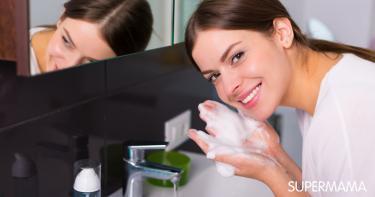 تنظيف البشرة الجافة