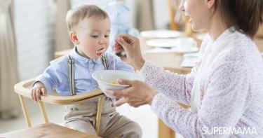 طعام الأطفال بعمر سنة ونصف