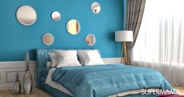 بالصور غرف نوم باللون التركواز