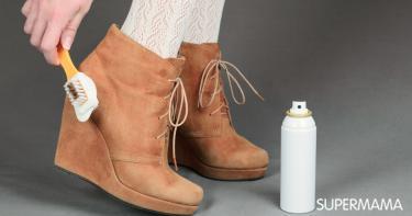 كيفية تنظيف الحذاء الشامواه