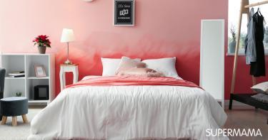 غرف نوم باللون الوردي