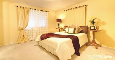 غرف نوم باللون الأصفر
