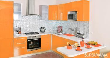 بالصور ديكورات للمطبخ باللون البرتقالي