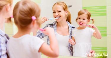 تعليم غسل الأسنان للأطفال