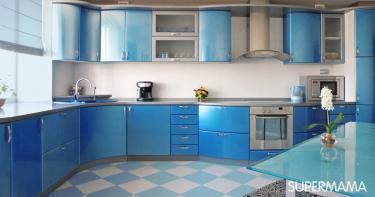بالصور ديكورات للمطبخ باللون الأزرق