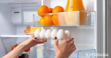 مدة حفظ البيض في الثلاجة