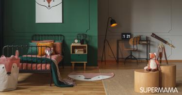 بالصور ديكورات لغرف نوم أطفال أولاد باللون الأخضر