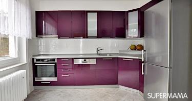 بالصور ديكورات للمطبخ باللون البنفسجي