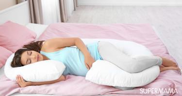 نوم الحامل على الجانب الأيمن
