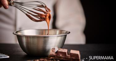 طريقه تسييح الشوكولاتة الخام