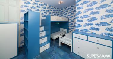 أشكال غرف نوم أطفال ثلاث سراير