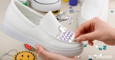 كيفية تزيين الأحذية بالاكسسوارات