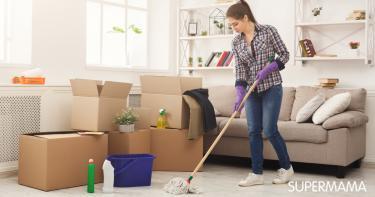 تنظيف البيت الجديد قبل السكن