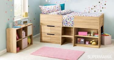 غرف نوم أطفال أولاد باللون البني