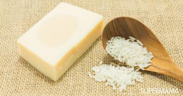 طريقة عمل صابونة الأرز بالحليب