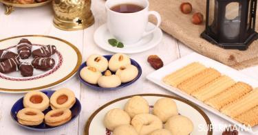 أفكار لترتيب طاولة تقديم حلويات العيد